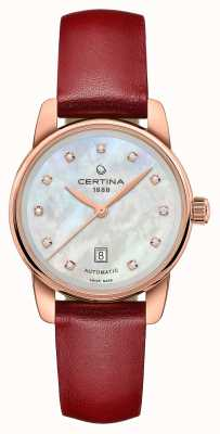 Certina Women's DS Podium Automatic | Mother Of Pearl Dial | C0010073611602