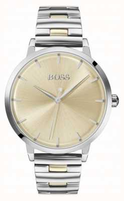 Boss | Women's Marina | Stainless Steel Bracelet | Gold Dial | 1502500