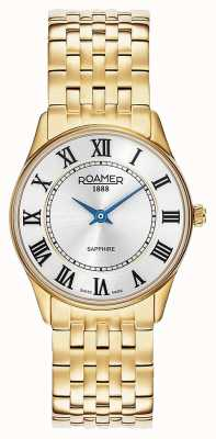 Roamer | Women's | Sonata | Gold Plated Steel | Silver Dial | 520820 48 15 50