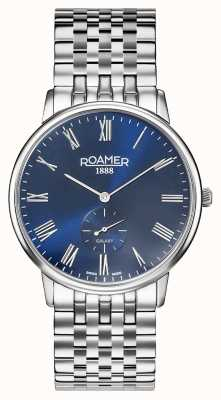 Roamer | Men's Galaxy | Stainless Steel Bracelet | Blue Dial | 620710-41-45-50