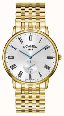 Roamer | Men's Galaxy | Gold Plated Stainless Steel | White Dial | 620710 48 15 50