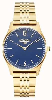 Roamer | Women's Elements | Gold Plated Stainless Steel | Blue Dial 650815 48 45 50