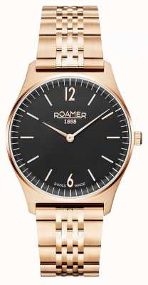 Roamer | Women's Elements | Rose Gold Stainless Steel | Black Dial 650815-49-60-50