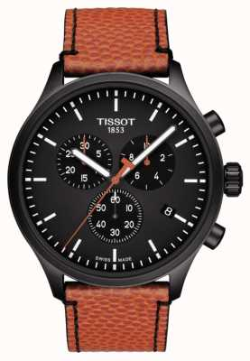 Tissot | Chrono XL | NBA Collector | Brown/Orange Leather Strap | T1166173605108