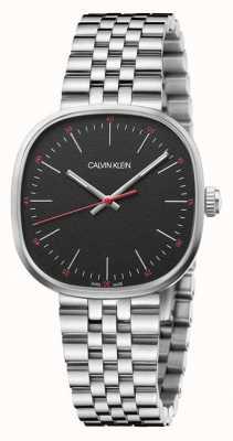 Calvin Klein | Men's | Squarely | Stainless Steel Bracelet | Black Dial | K9Q12131