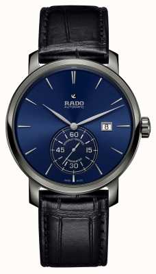 Rado XL Diamaster Petite Seconde Black Leather Blue Dial Watch R14053206