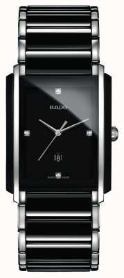 RADO Integral Diamonds High-Tech Ceramic Black Square Dial Watch R20206712