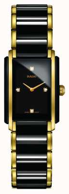 RADO Integral Diamonds High-Tech Ceramic Square Dial Watch R20845712