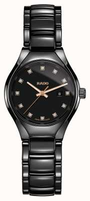 RADO True Diamonds Plasma High-tech Ceramic Black Dial Watch R27059732