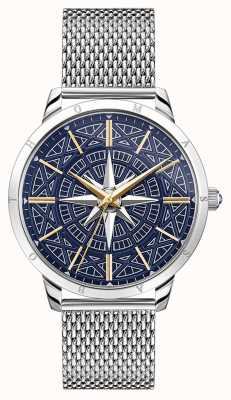 Thomas Sabo | Men's Rebel Spirit Compass | Blue Dial | Mesh Bracelet | WA0350-201-209-42