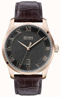 Boss | Men's Master | Brown Leather Strap | Grey Dial | 1513740