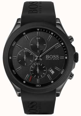 BOSS | Men's Velocity | Black Rubber Strap | Black Dial | 1513720