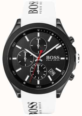 BOSS | Men's Velocity | White Rubber Strap | Black Dial | 1513718