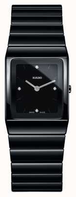 Rado | Ceramica Diamonds | Square Dial | Black Ceramic Bracelet | R21702702