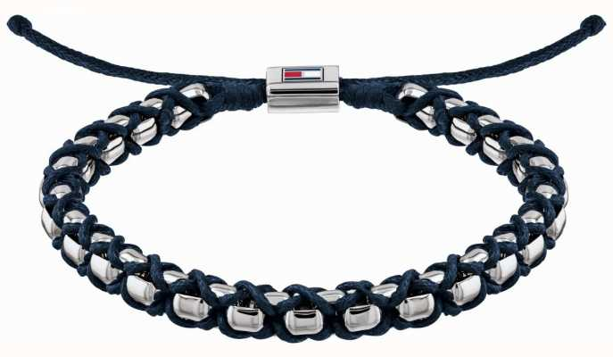 Tommy Hilfiger Stainless Steel Metal Braided Bracelet   Blue 2790162