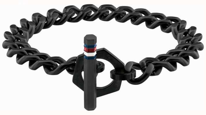 Tommy Hilfiger Men's Black Toggle Chain Bracelet 2790163