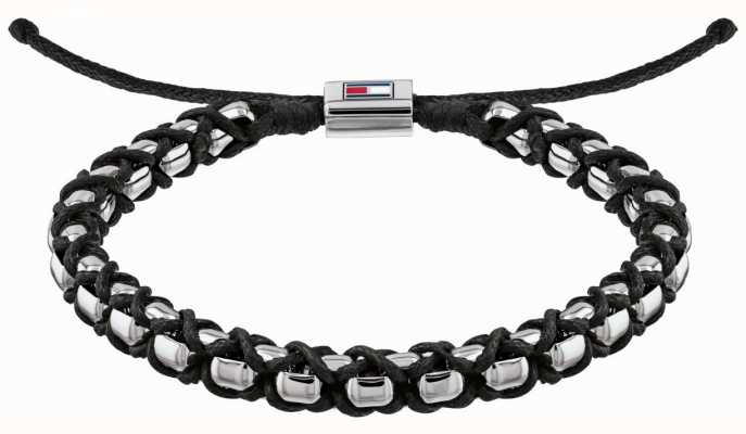 Tommy Hilfiger Stainless Steel Metal Braided Bracelet | Black 2790182