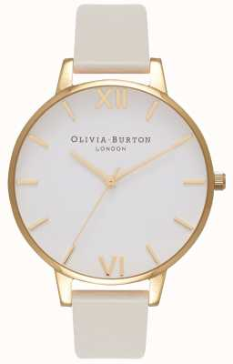 Olivia Burton Women's Vegan Friendly Gold Plated Nude Strap OB16BDV03