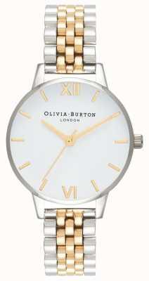 Olivia Burton | Women's | Midi Dial | Two-Tone Bracelet | White Dial | OB16MDW34