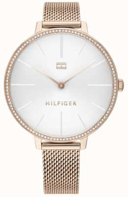Tommy Hilfiger Kelly | Rose Gold PVD Mesh Bracelet | White Dial | 1782115