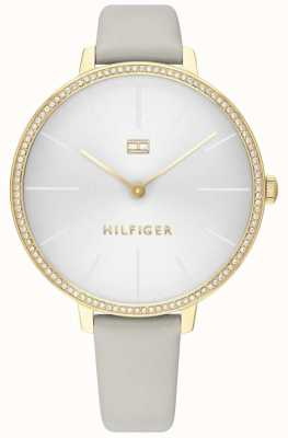 Tommy Hilfiger Kelly | Grey Leather Strap | Grey/White Dial | 1782110