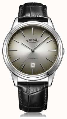 Rotary | Men's Cambridge | Grey/Black Dial | Black Leather Strap | GS05390/20