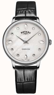 Rotary | Women's Kensington | Swarovski Crystal Dial |Black Leather LS05170/41