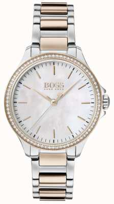 Boss | Diamonds For Her | Two-Tone Bracelet | Mother Of Of Pearl 1502524