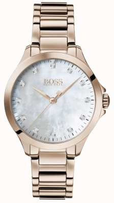 Boss | Diamonds For Her | Rose Gold | Mother Of Pearl Dial 1502523