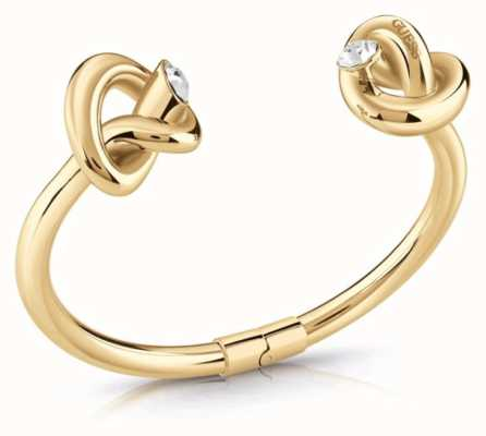 Guess Women's Gold Plated Knot Bangle UBB29016-L