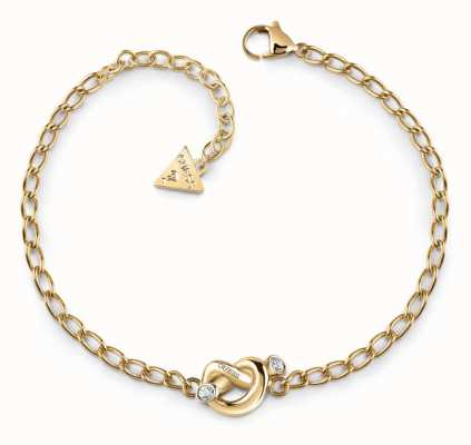 Guess Women's Gold Plated Knot Bracelet UBB29019-L