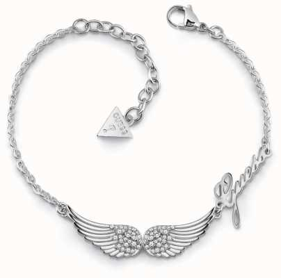 Guess Fly With Me | Women's Silver Wing Bracelet UBB29083-L