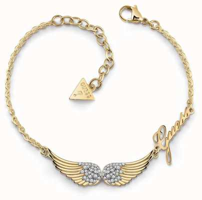 Guess Fly With Me | Women's Gold Plated Wing Bracelet UBB29084-L