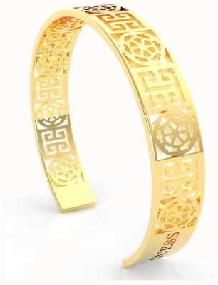 Guess Women's 'Peony Art' Gold Cut Out Bangle UBB29105