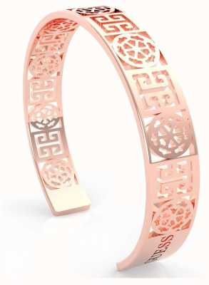 Guess Women's 'Peony Art' Rose Gold Cut Out Bangle UBB29106