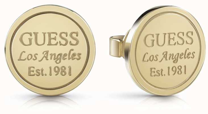 Guess Women's 'American Dream' Gold Coin Stud Earrings UBE28035