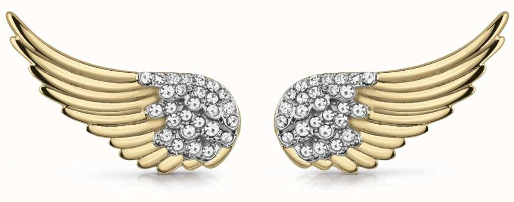 Guess Fly With Me | Women's Gold Wing Stud Earrings UBE29066
