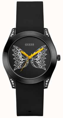 Guess | Women's Time To Give | Black Silicone Strap | Black Dial | W0023L10