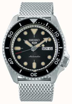 Seiko 5 Sport | Suits | Automatic | Black Dial | Steel Mesh SRPD73K1