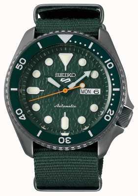 Seiko 5 Sport | Sense | Automatic | Green Dial|  Green NATO SRPD77K1
