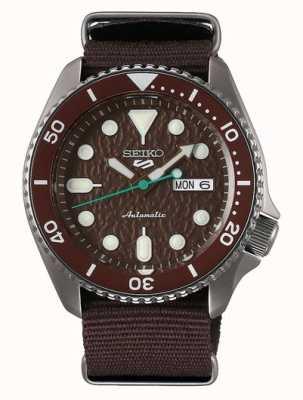 Seiko 5 Sport | Sense | Automatic | Brown Dial | Brown NATO SRPD85K1