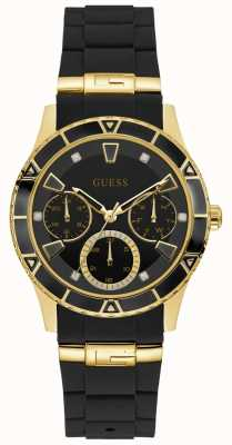Guess | Women's Valencia | Black Rubber Strap | Black Dial | W1157L1