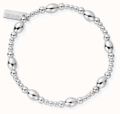 ChloBo   Sterling Silver 'Cute Oval' Bracelet   SBCOR