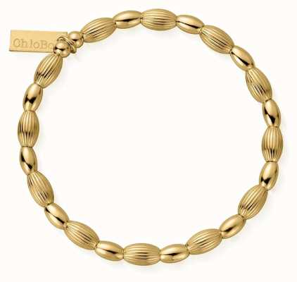 ChloBo | Sterling Silver Gold Plated 'Double Rice' Bracelet | GBCOD