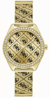 Guess | Women's Claudia | Gold Mesh Bracelet | Gold Dial | W1279L2