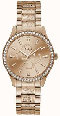 Guess | Women's Anna | Rose Gold Metal Bracelet | Rose Gold Dial | W1280L3