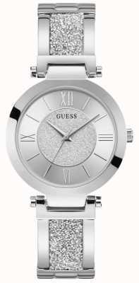 Guess | Women's Aurora | Silver Crystal Bracelet | Silver Dial | W1288L1