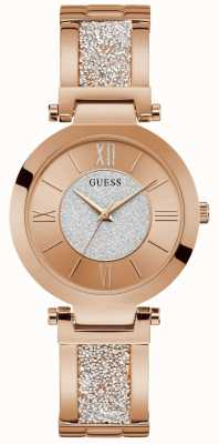 Guess | Women's Aurora | Rose Gold Crystal Bracelet | Rose Dial | W1288L3