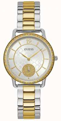 Guess | Women's Astral | Two-Tone Stainless Steel | Silver Dial | W1290L1