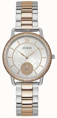 Guess | Women's Astral | Two-Tone Stainless Steel | White Dial | W1290L2